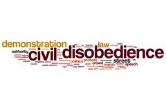 Civil disobedience word cloud Stock Illustration