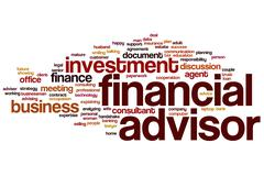 Financial advisor word cloud Stock Illustration