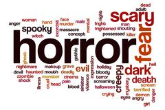 horror word cloud - stock illustration