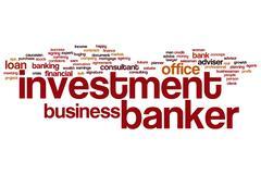 Investment banker word cloud Stock Illustration