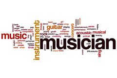 Stock Illustration of musician word cloud