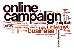 online campaign word cloud - stock illustration