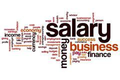 salary word cloud - stock illustration