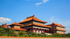 4k timelapse,the largest and most important Chinese Buddhist temple Stock Footage