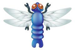 Cartoon insect dragon fly bug Stock Illustration