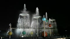 Fountain in Sharjah City Stock Footage