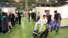 Stock Video Footage of Presentation of the robot, Robotics Expo