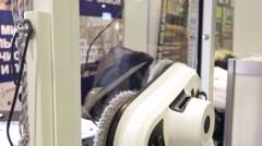Stock Video Footage of robotic window cleaner, Robotics Expo
