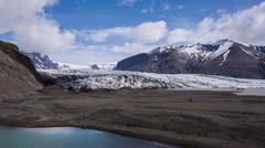 Glacier Skaftafellsjokull Iceland Stock Footage