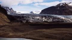 Glacier Skaftafellsjokull Stock Footage