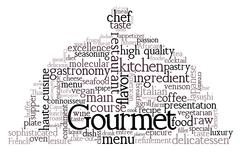 gourmet theme - stock illustration