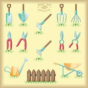 Gardening tools Stock Illustration