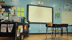 Stock Video Footage of Empty classroom pan