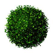 Planet earth made of leaves. Eco globe. Ball of green leaves isolated on white. Stock Illustration