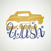 car wash signage - stock illustration