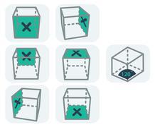 interface icons - stock illustration