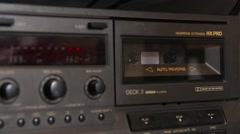 Vintage Cassette Player Stock Footage