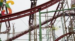 Rollercoaster Hamburger Dom Stock Footage