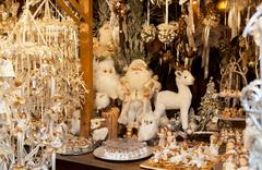 christmas ornaments and christmas balls - stock photo