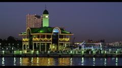 Light-up of Yokohama Minato Mirai 21 Stock Footage