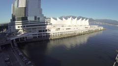 Aerial Canada place - landing Stock Footage