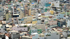 Time Lapse View of Ho Chi Minh City Buildings Daytime From Above Stock Footage
