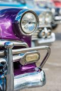 Classic chevrolet and other vintage cars in old havana Stock Photos