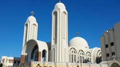 Hurghada, church at bleu sky - stock footage