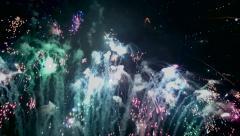 4K Fireworks show Stock Footage