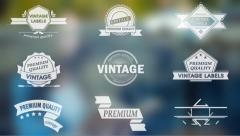 Stock After Effects of Vintage Labels