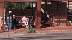Homeless people on downtown sidewalks of Tucson - 2 Stock Footage