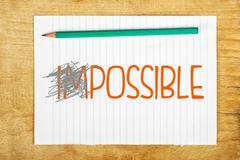 Impossible is possible Stock Illustration
