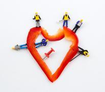 stabbing heart - stock photo