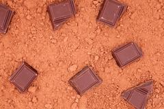 chocolate, for cocoa background - stock photo