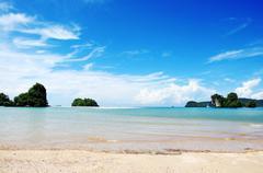 View of andaman sea, thailand Stock Photos