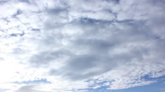 white time lapse clouds on sky - stock footage