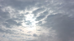 sunny time lapse clouds - stock footage