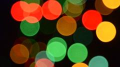 Lights on the christmas tree,rack focus, Stock Footage