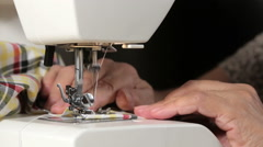 Home Sewing Stock Footage