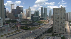 Toronto downtown highway time lapse Stock Footage