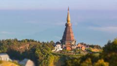 King Pagoda (Phra Maha Dhatu Nabha Metaneedol) of Thailand Stock Footage