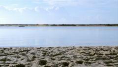 Ria Formosa - Fuseta Landscape - Boat  011A Stock Footage