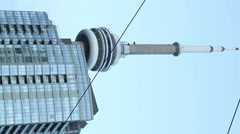 CN Tower  - Vertical Footage Stock Footage