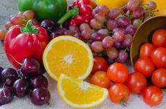 Stock Photo of mix fruits and vegetable