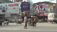 Stock Video Footage of Mandalay, chaotic traffic scene