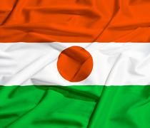 Stock Illustration of niger flag on a silk drape waving