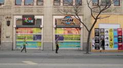 Toronto Streetcar on Queen Street Stock Footage