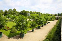 garden park of schonbrunn palace, vienna - stock photo