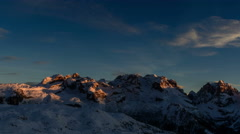 Cima Brenta and Cima Groste, mountain peaks,  Dolomites winter cold landscape Stock Footage