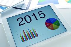 economic forecast for 2015 - stock photo